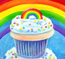 Rainbow Cupcake Sticker