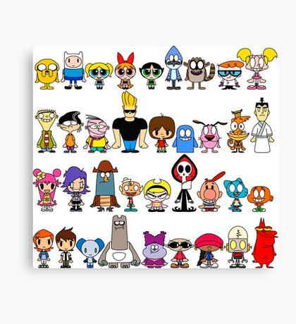 Cartoon Network Canvas Print