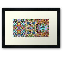 Psychedelic  Pattern Framed Print
