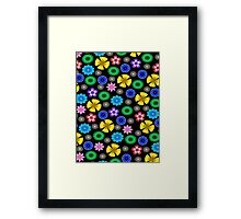 Multicolor Flowers Pattern Framed Print