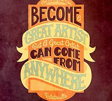 Pixar Ratatouille Quote by Rachel Krueger
