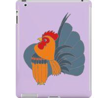 Red Blue Partridge Serama Rooster iPad Case/Skin