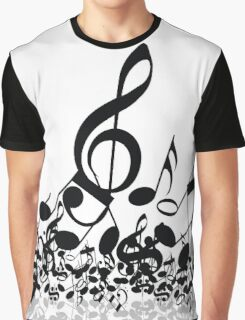 Music Note's BW 2 Graphic T-Shirt