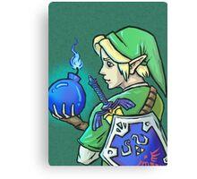 Link's Blue Bomb (Legend of Zelda) Canvas Print