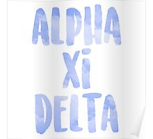 Alpha Xi Delta Poster