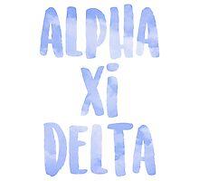 Alpha Xi Delta Photographic Print