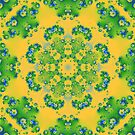 The Brightness of Yellow and Green Kalder Carpet by lacitrouille