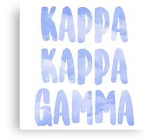Kappa Kappa Gamma Canvas Print