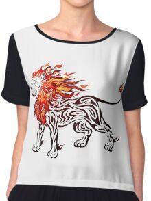 Fiery Spirit Chiffon Top