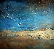 Abstract Coastal Painting PIER 50 artist holly anderson by hollyanderson