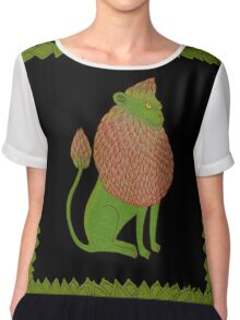 Asparagus Lion, King of the Vegetables Chiffon Top