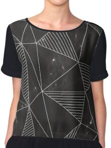 Marble Triangles Chiffon Top