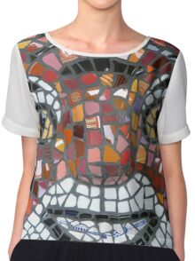 Mosaic Tiger mask Women's Chiffon Top