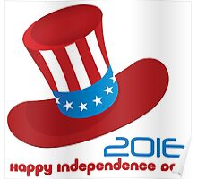 Happy Independence Day USA (Hat) Poster