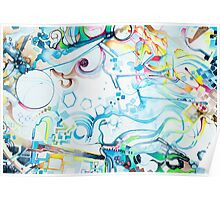 Fibroblasts  - Watercolor Painting Poster