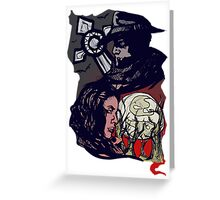 Red Black and White Greeting Card