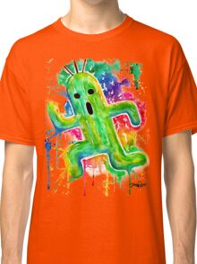Cute Cactuar - Running Watercolor - Final fantasy - Jonny2may - Awesome!  Classic T-Shirt
