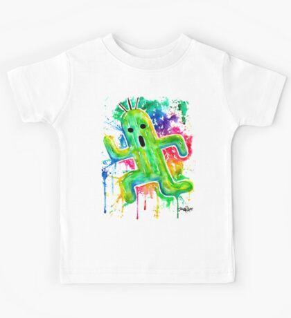 Cute Cactuar - Running Watercolor - Final fantasy - Jonny2may - Awesome!  Kids Tee
