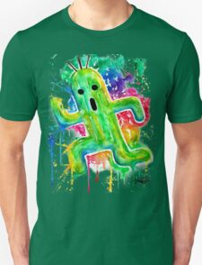 Cute Cactuar - Running Watercolor - Final fantasy - Jonny2may - Awesome!  Unisex T-Shirt