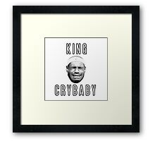 LeBron James King Crybaby  Framed Print