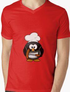 PENGUIN CHEF Mens V-Neck T-Shirt