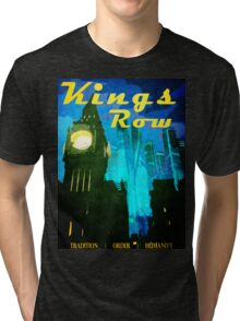 Overwatch - Vintage Travel Poster (King's Row) Tri-blend T-Shirt