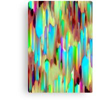 Colorful digital art splashing Canvas Print