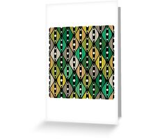 Abstract hand-drawn doodle flowers Greeting Card