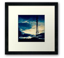 Blue Sunset Silhouette Framed Print