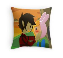 Fionna and Marshall Lee Throw Pillow