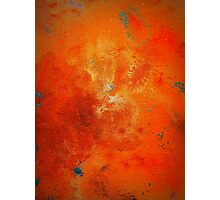 Abstract Fine Art Orange and Blue BUCKLE  Photographic Print