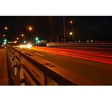 Night Russle Road Exit  Photographic Print