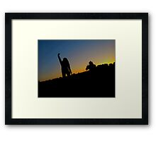 Peace and sunsets Framed Print