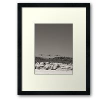 Powerline Friday @ the Beach Framed Print