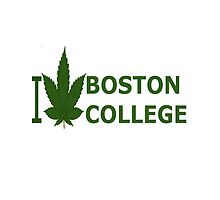 I Love Boston College by Ganjastan