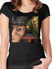 How To Train Your Dragon 03 Women's Fitted Scoop T-Shirt