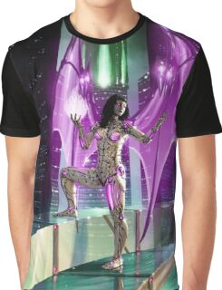 Robot Angel Painting 020 Graphic T-Shirt