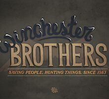 Supernatural Winchester Brothers by Rachel Krueger