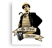 My first Doctor (Who) seventh 7th Sylvester McCoy Canvas Print