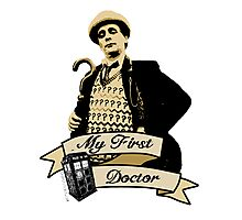 My first Doctor (Who) seventh 7th Sylvester McCoy Photographic Print