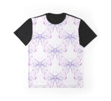 Watercolor Butterfly in Pink Purple and Blue graphic art Graphic T-Shirt