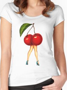 Fruit Stand - Cherry Girl Women's Fitted Scoop T-Shirt