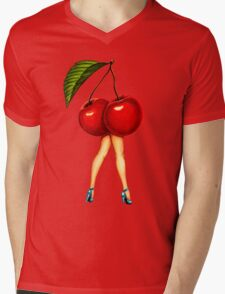Fruit Stand - Cherry Girl Mens V-Neck T-Shirt
