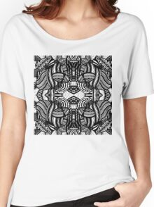 Miniature Aussie Tangle 10 Pattern with transparent background Women's Relaxed Fit T-Shirt