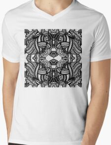 Miniature Aussie Tangle 10 Pattern with transparent background Mens V-Neck T-Shirt