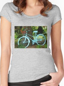 Blue Garden Bicycle Women's Fitted Scoop T-Shirt