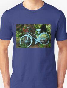 Blue Garden Bicycle Unisex T-Shirt