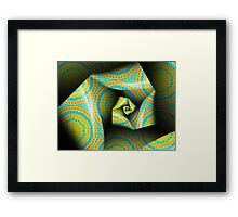 Folding and Pleating A Paper Spiral II Framed Print