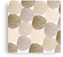 Sea Shells Pattern in Beige and Cream Canvas Print