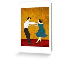 Swing Dance Greeting Card